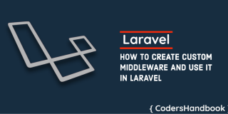 Custom Middleware in laravel